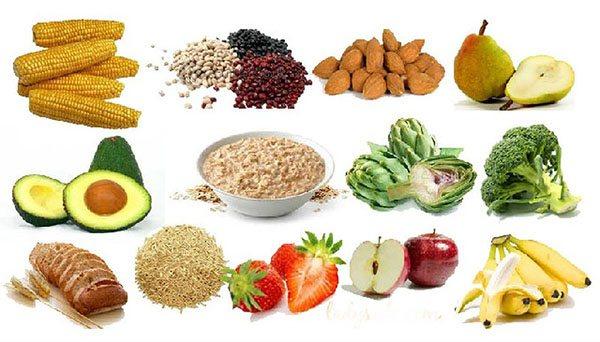 thực phẩm bổ sung chất xơ cho bé